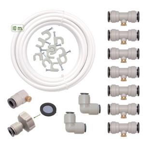 Drip & Fresh C5115N - Kit de Nebulización para Climatizar tu Patio o Terraza - 8 Puntos de Frescor, 10 m de Largo