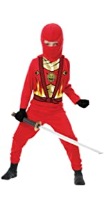 Charades Child Golden Ninja Series III Costumes, Gold, Medium