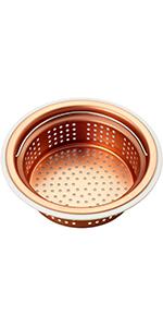 ゴミ受け 流し用銅製浅型ゴミカゴ 135/145両用タイプ