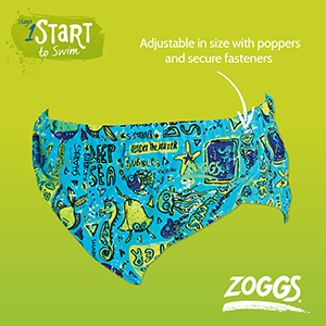 3-24 Months Zoggs Baby Adjustable Reusable Swim Nappy
