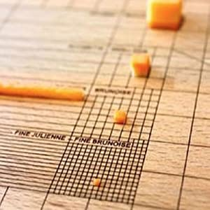 obsessive, chef, cutting board, grid, lines, cheese, carrot, julienne, brunoise, cut, chop, kitchen