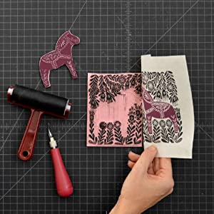 block printing, relief printing, speedy carve, speedball, ink, lino cutter, brayer