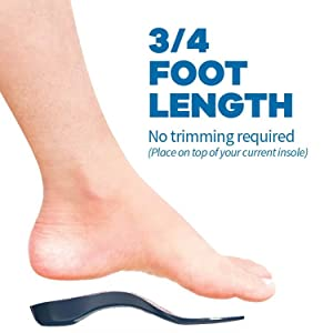 Insole Length 3/4 Foot