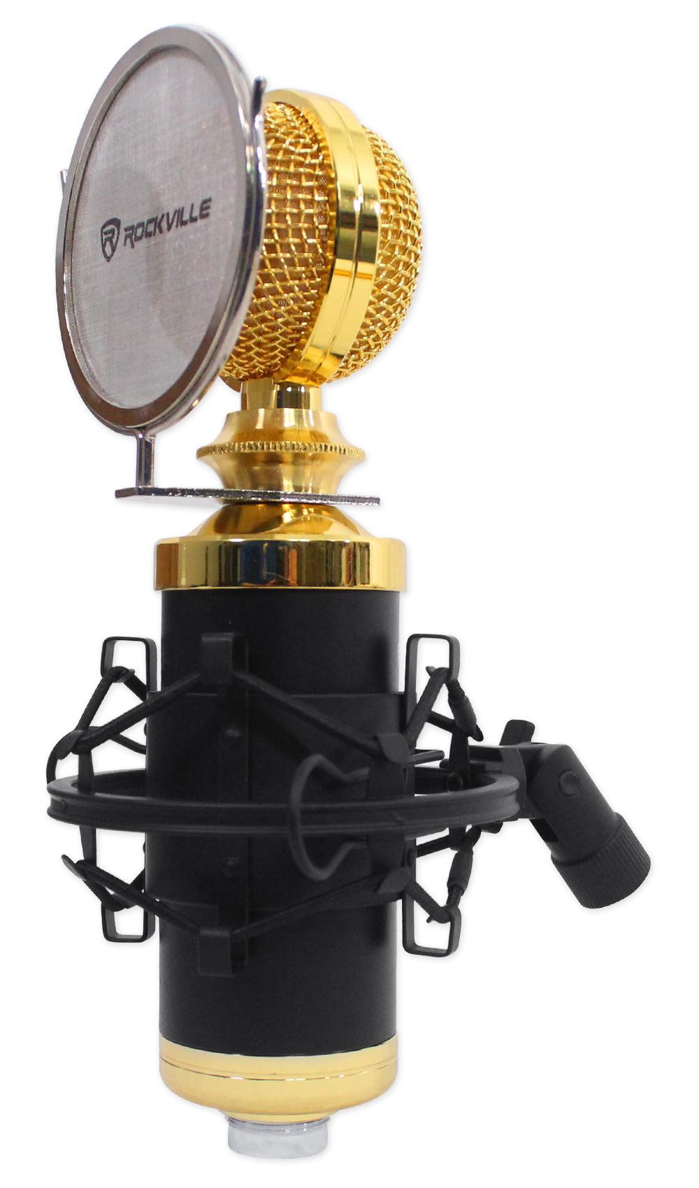 Amazon Com Rockville Rcm02 Pro Studio Recording Condenser