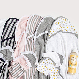 Burt's Bees Baby Bath Washcloth towel bathrobe rob tub wash scrub organic cotton girl boys unisex 3M