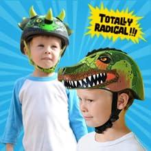 dinosaur helmet, kid, boy, girl, bike helmet, skate helmet