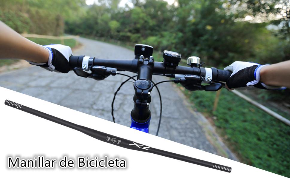Dilwe Manillar de Bicicleta Manillares Planos de Ciclismo de Aleación de Aluminio para Bicicletas de Carretera Manillar MTB 780mm (31.8 * 780mm): Amazon.es: Deportes y aire libre