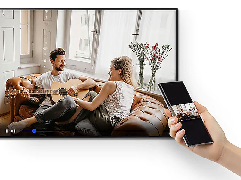 The Frame mirroring content from a smartphone