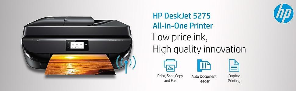 HP DeskJet 5275 All-in-One Ink Advantage WiFi Printer