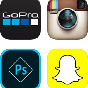 snapchat, gopro, instagram, apps, photoshop, video, iphone