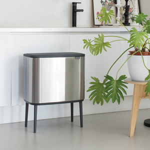 trash cans; kitchen trash cans; dual compartment trash cans; kitchen bins; trash cans kitchen