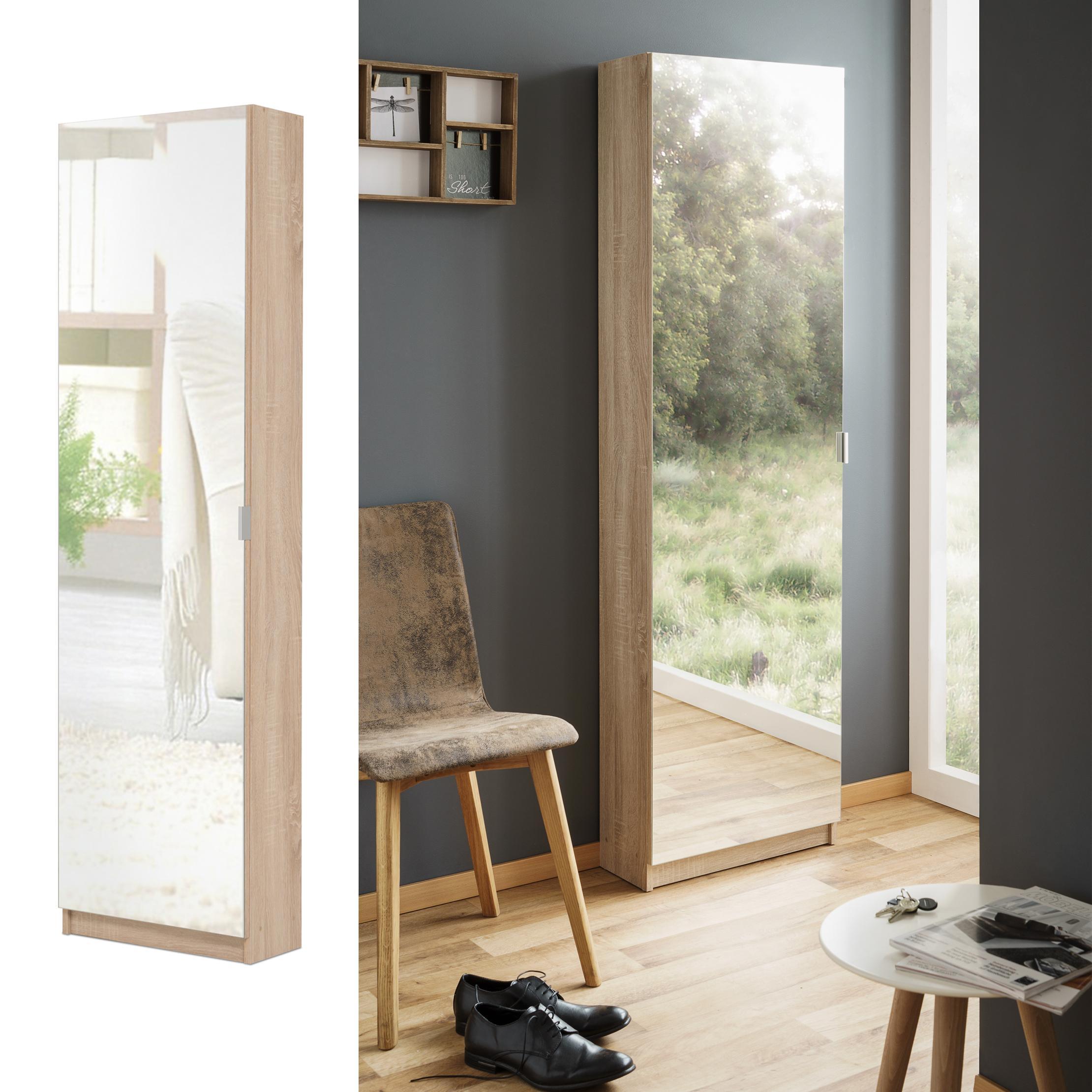 spiegelschuhschrank schuhschrank mit spiegelt r b h t 50 x 180 x 20 wei k che. Black Bedroom Furniture Sets. Home Design Ideas