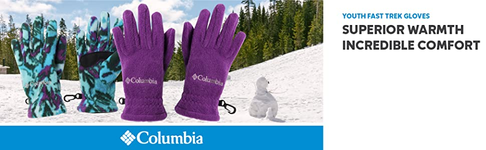 Columbia Youth Fast Trek Fleece Gloves