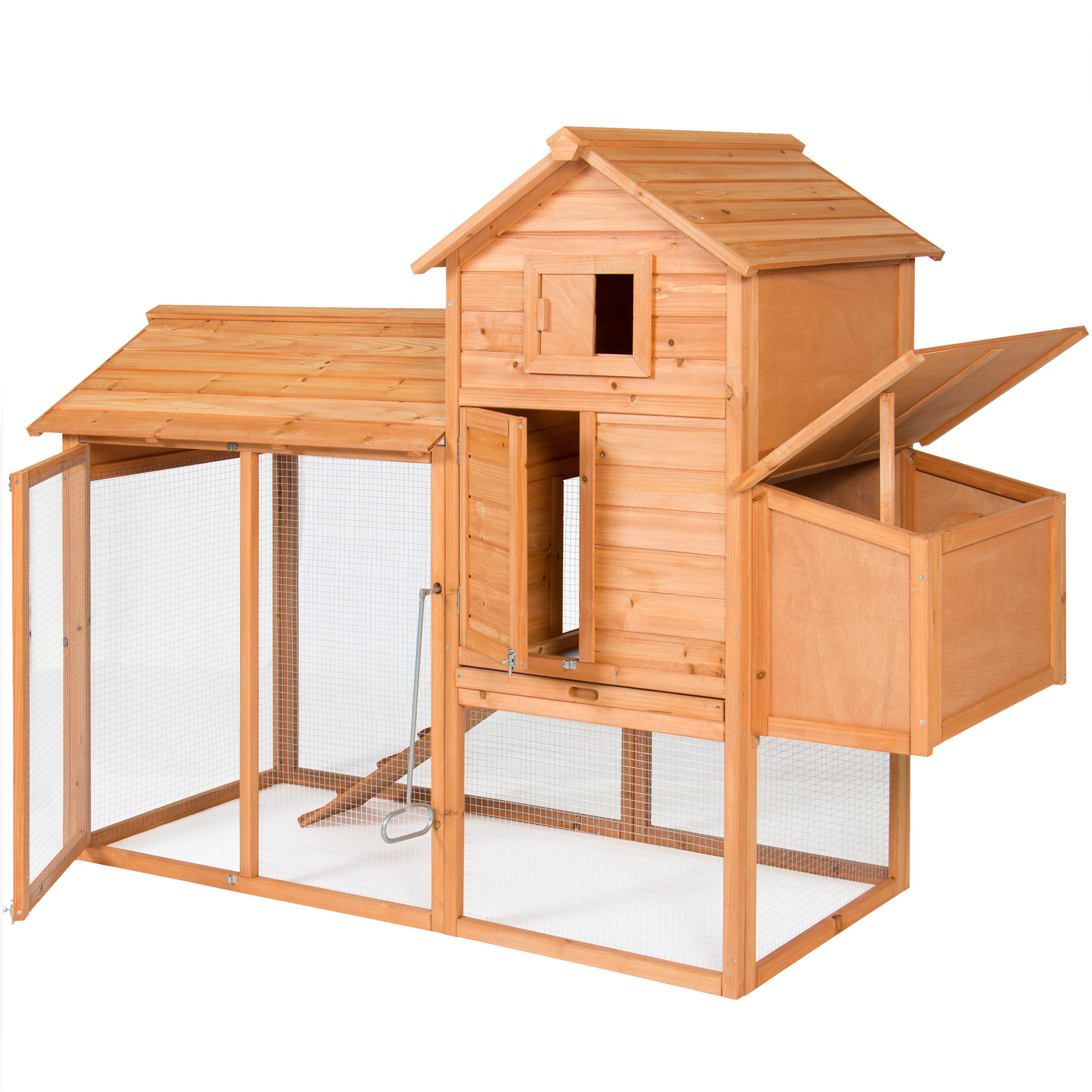 Amazon Com Best Choice Products 80 Quot Wooden Chicken Coop