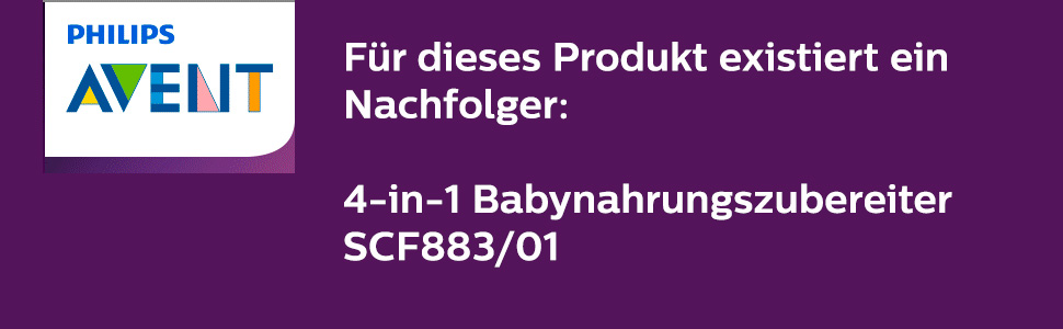 Philips Avent SCF875/02 4-in-1 Babynahrungszubereiter