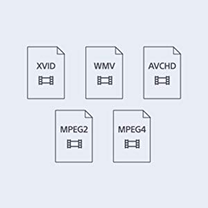 Icons for different movie formats