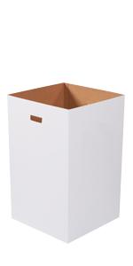 Plain 40 Gallon Corrugated Trash Can