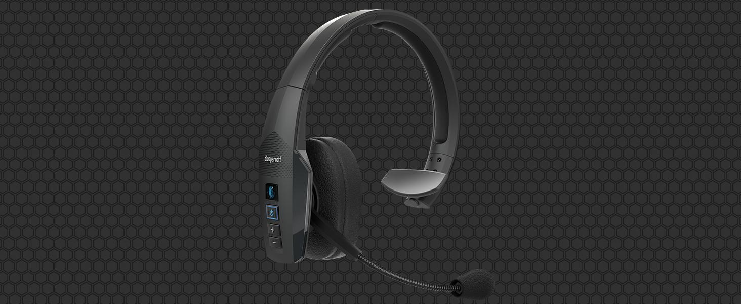 Blueparrott B450 Xt Mono Bluetooth Over Ear Headset 96 Noise Cancelling Mit Sprachsteuerung Für Unterwegs Und In Lärmintensiver Umgebung Schwarz Elektronik