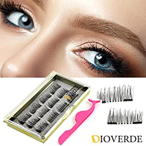 fbe022226bd Amazon.com : DIOVERDE 12 PCS Upgraded Magnetic Eyelashes, Ultra Thin ...
