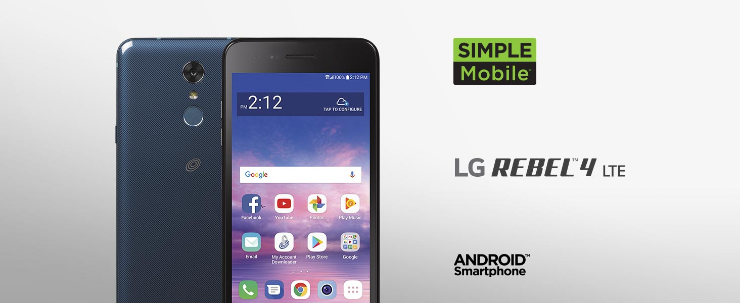 Details about Simple Mobile LG Rebel 4 LML211BL Prepaid Phone 16GB Black