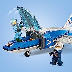 Police jet parachute pursuit