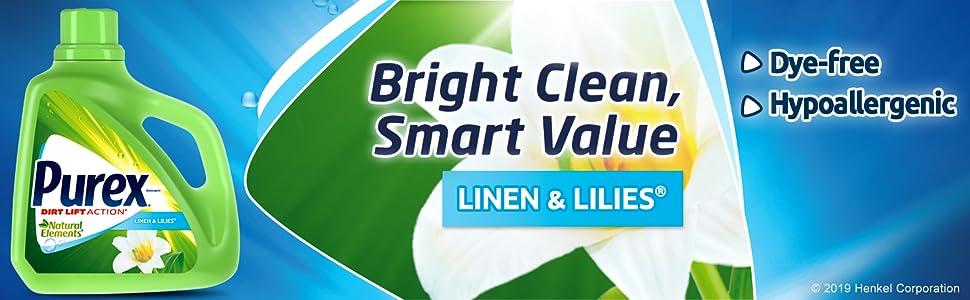 Purex Liquid Laundry Detergent Natural Elements Linen & Lilies