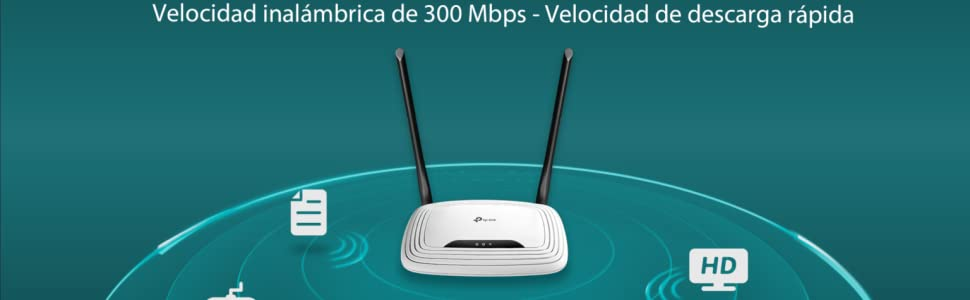 TP-Link TL-WR841N - WiFi router inalámbrico, 300 Mbps de velocidad WiFi, antenas de 5 dBi, modo multi, fácil de usar, 4 puertos LAN de 10/100 Mbps, 1 ...
