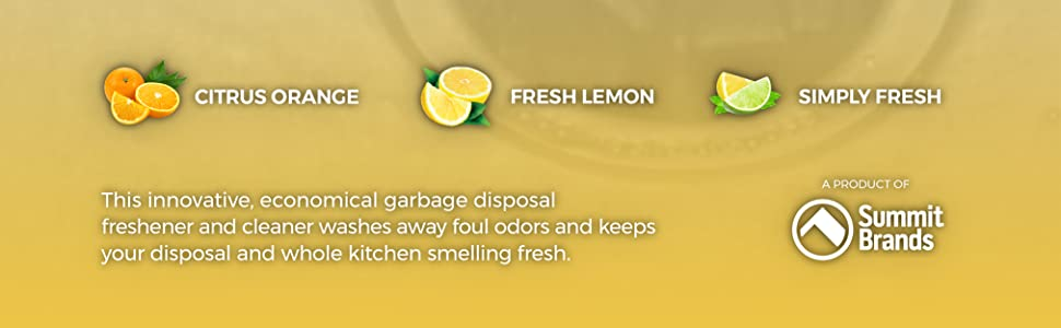 Plink, Garbage disposal cleaner, Disposer care, Garbage disposal smells, Garbage disposal freshener
