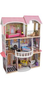 KidKraft Magnolia Mansion Dollhouse, Magnolia Mansion Dolls House, Wooden Dollhouse