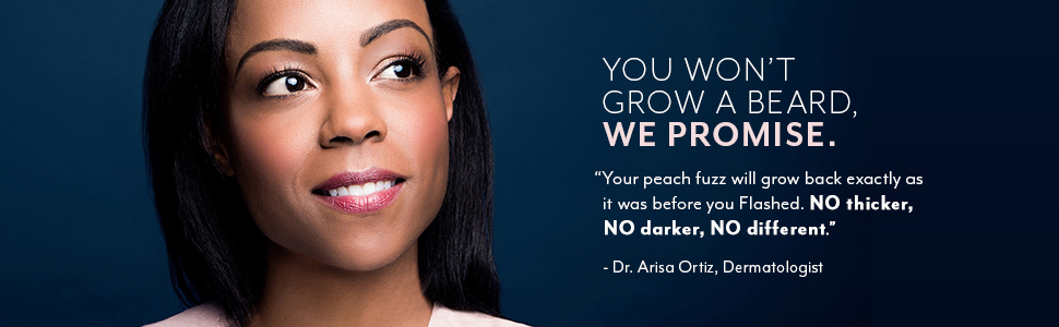 no beard peach fuzz grows back the same no thicker no darker no different dermatologist
