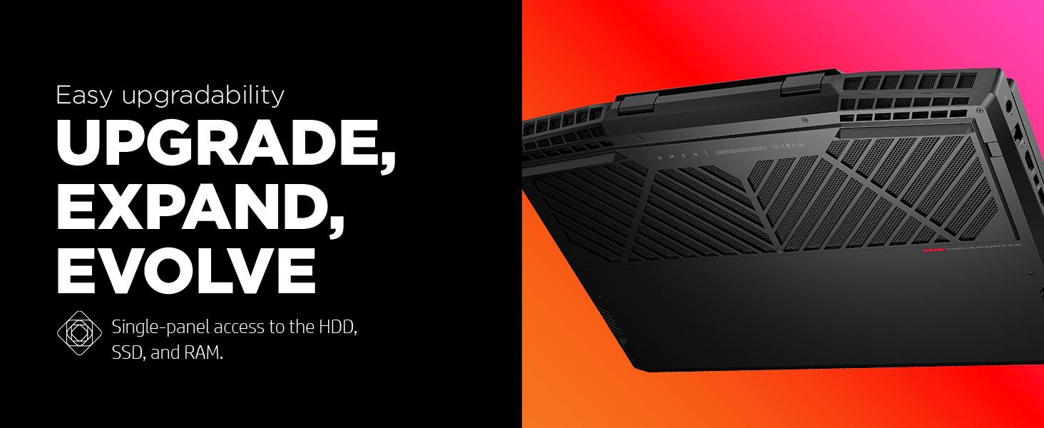 upgrade single panel access HDD SSD RAM