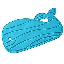 4 leaf baby bath seat mat light blue