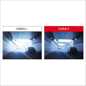 急激な明るさの変化に強いHDR