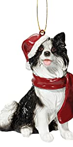Christmas Ornaments - Xmas Border Collie Holiday Dog Ornaments