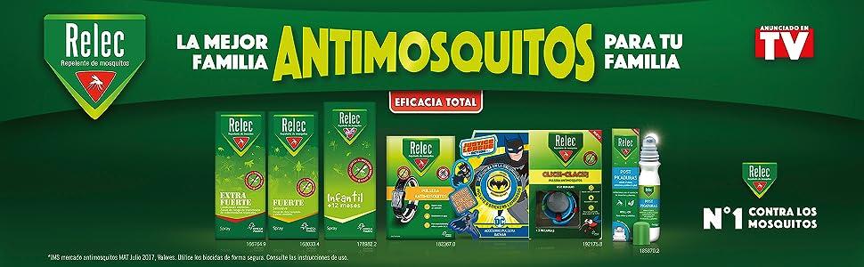Relec Extra Fuerte Spray Repelente Antimosquitos Fuerte y Eficaz, 9 horas de Protección - 75 ml