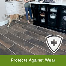 Protect your stone tile laminate floor, protect finish, against scratches