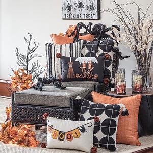 halloween, halloween decor, halloween pillows, holiday pillows, pillow perfect, halloween home
