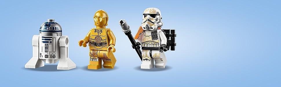 Incluye 3 personajes LEGO Star Wars