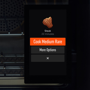 june oven user interface touchscreen