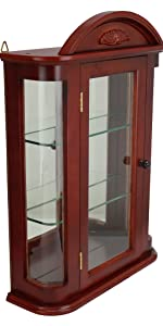 rosedale curio cabinet, home furnishings, display cabinet, modern curio, mirrored cabinet