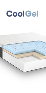 ... Queen 10.5 Inch cool gel memory foam mattress, gel mattress queen, best firm cool ...