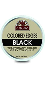 OKAY Colored Edges Black -Temporary Color -Free of Silicone and Paraben- 2oz