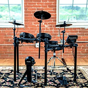 alesis drums nitro mesh kit eight piece all mesh electronic drum kit with super. Black Bedroom Furniture Sets. Home Design Ideas