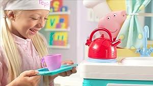 Amazon Com Peppa S Little Kitchen Deluxe Feature Role