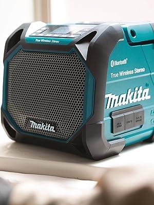 radio speaker small portable handle teal black