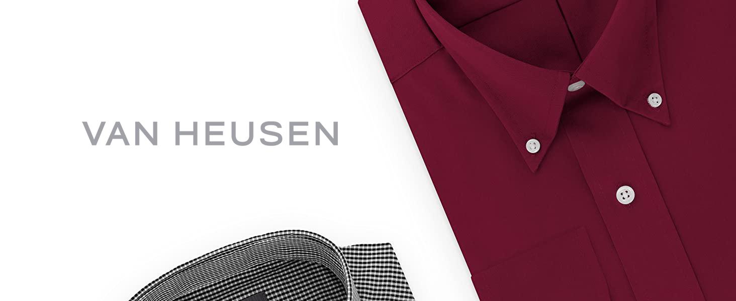 Van Heusen Men's Pinpoint