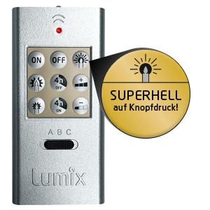 Lumix superlight kabellose led christbaumkerzen f r innen und au en erweiterungs set mit 5 - Weihnachtsbeleuchtung mit batterie und timer ...