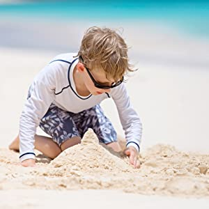 Kanu Surf Boys Swim Trunks Swimsuit Traje de Bano UPF Swimwear Bathing Suit Little Big Rashguard