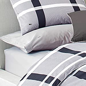 lacoste comforter; lacoste duvet; striped comforter; striped duvet; black and white blanket