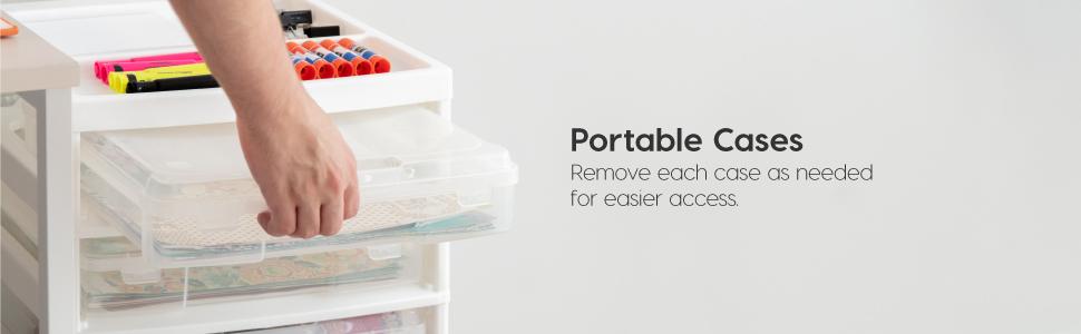12x12 plastic storage box, clear project case, scrapbook case 12x12, scrapbook storage case 12x12